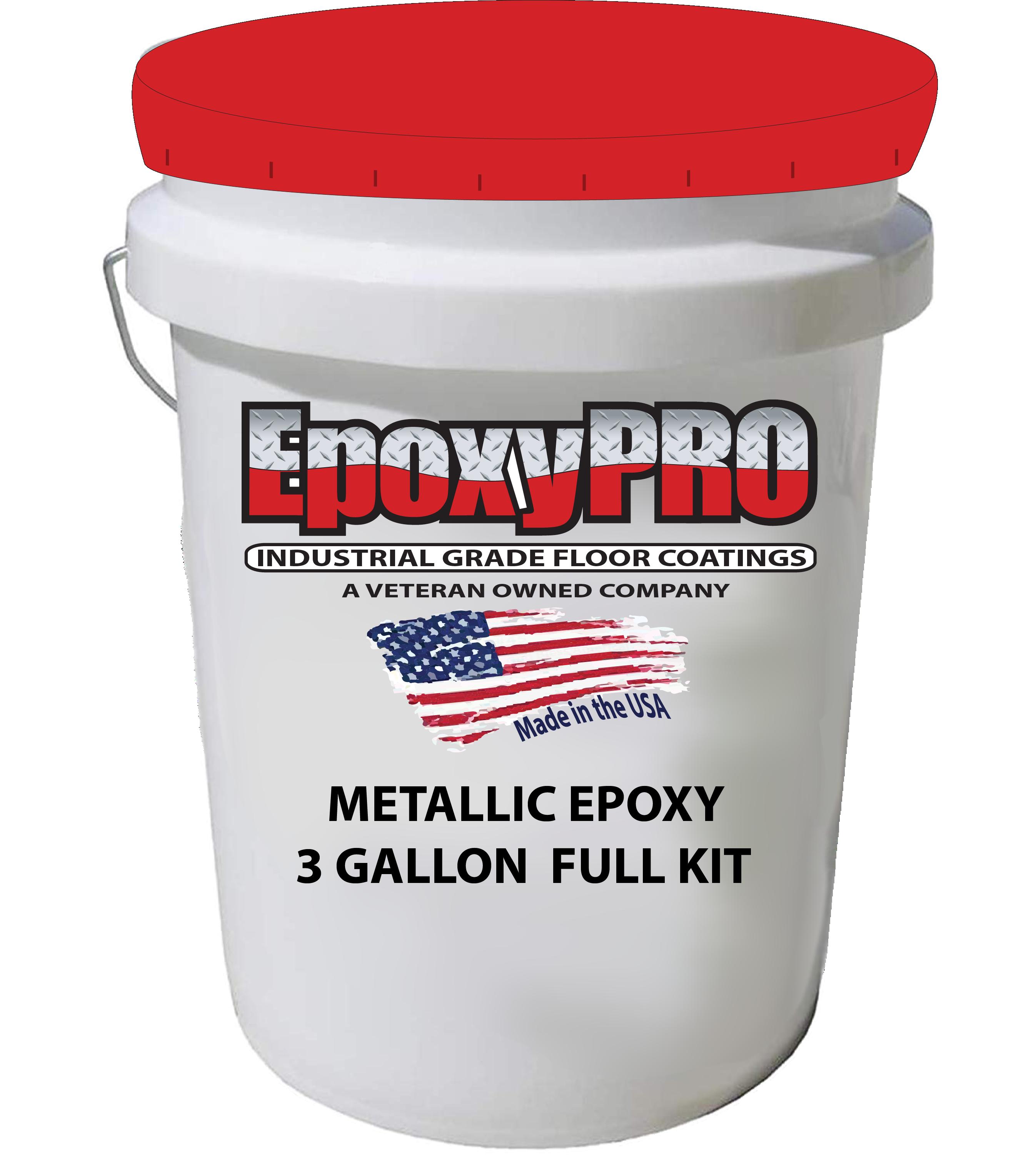 Metallic epoxy kit